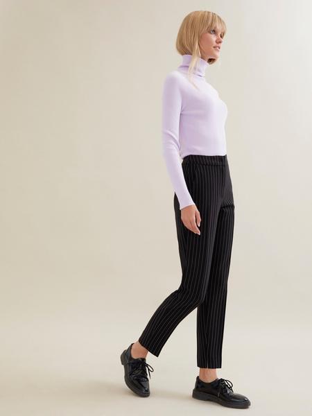 Зауженные брюки в полоску - фото 5