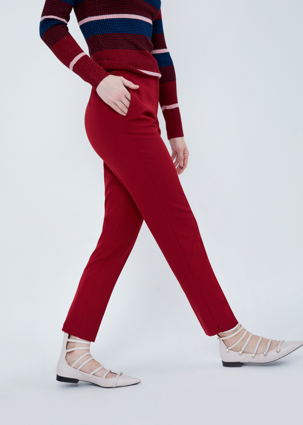 Зауженные брюки с разрезами - фото 3