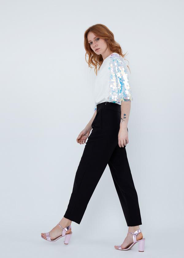 Укороченные брюки с карманами - фото 3