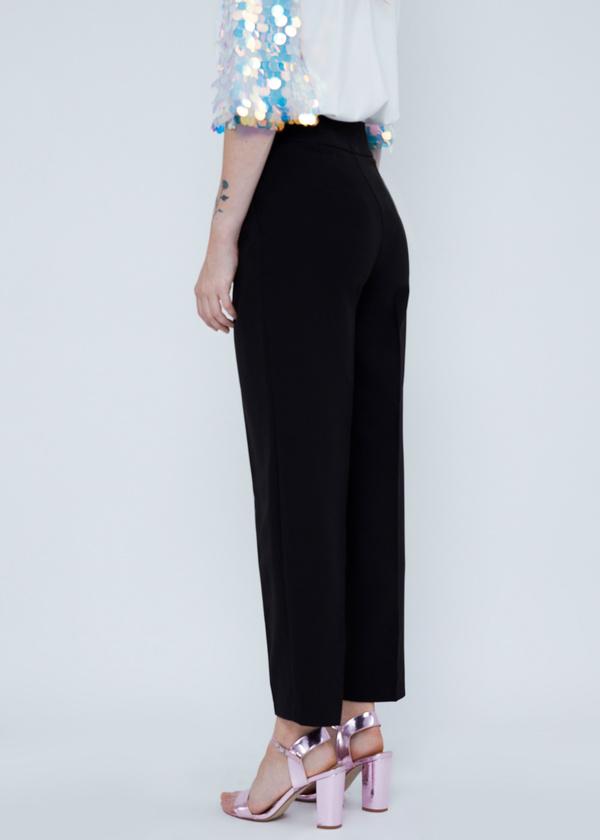 Укороченные брюки с карманами - фото 4