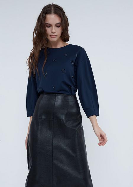 Блуза с завязками на спине - фото 1