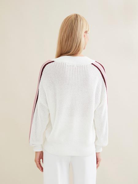 Джемпер крупной вязки со спущенной линией плеча - фото 5