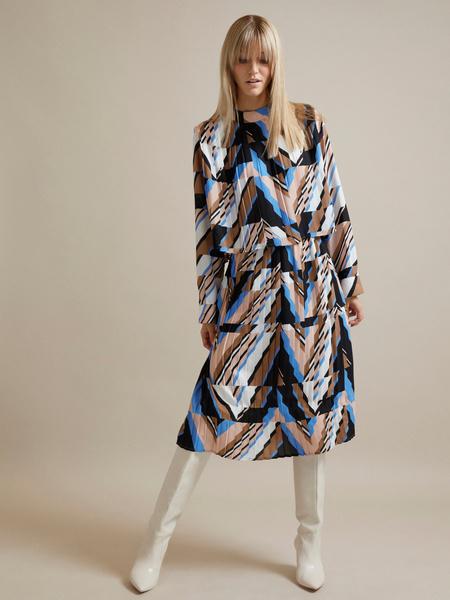 Миди-платье с плиссировкой - фото 1