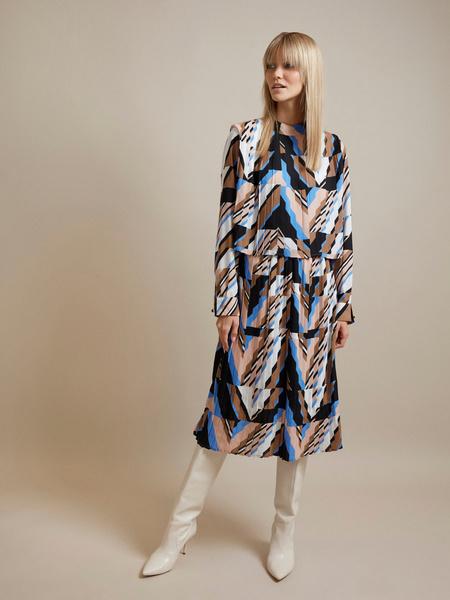 Миди-платье с плиссировкой - фото 3