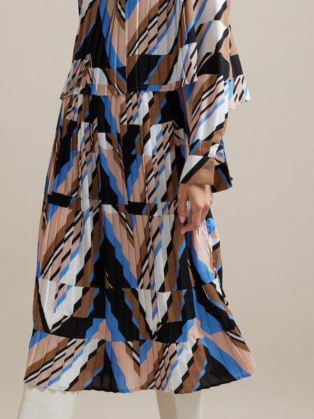 Миди-платье с плиссировкой - фото 5