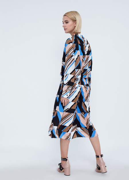 Миди-платье с плиссировкой - фото 6