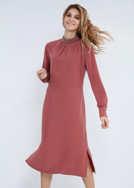 Платье-миди свободного кроя - фото 2