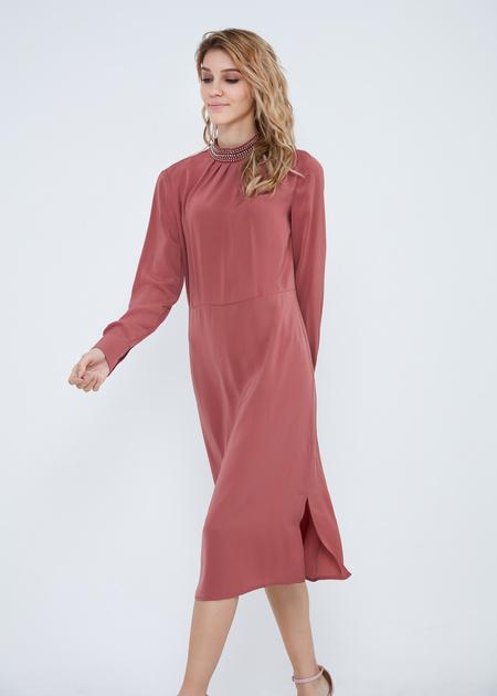 Платье-миди свободного кроя - фото 3