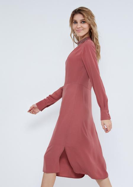 Платье-миди свободного кроя - фото 5