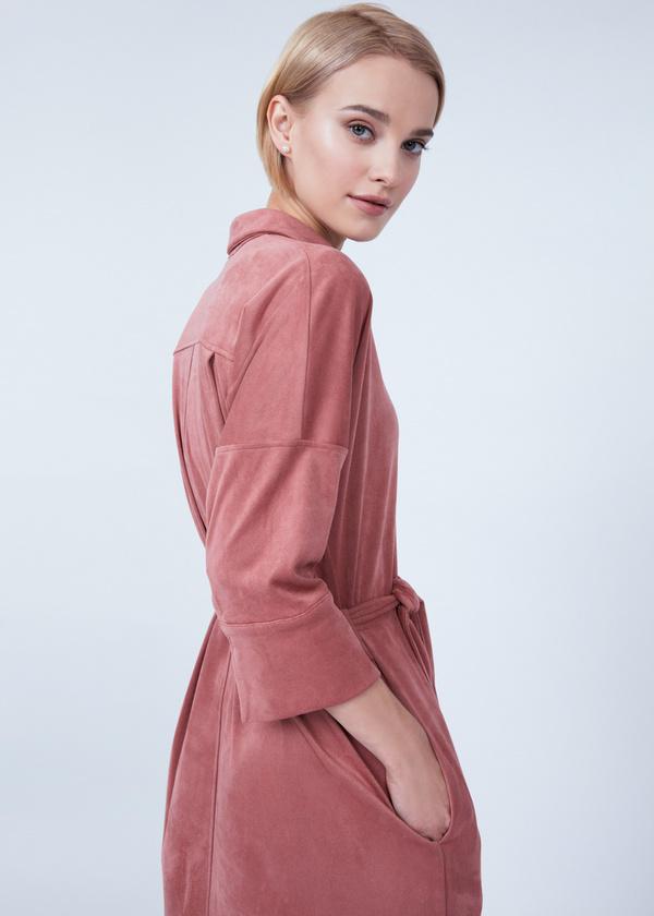 Платье-рубашка с боковыми разрезами - фото 2