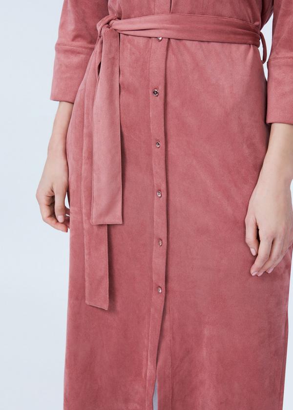 Платье-рубашка с боковыми разрезами - фото 5
