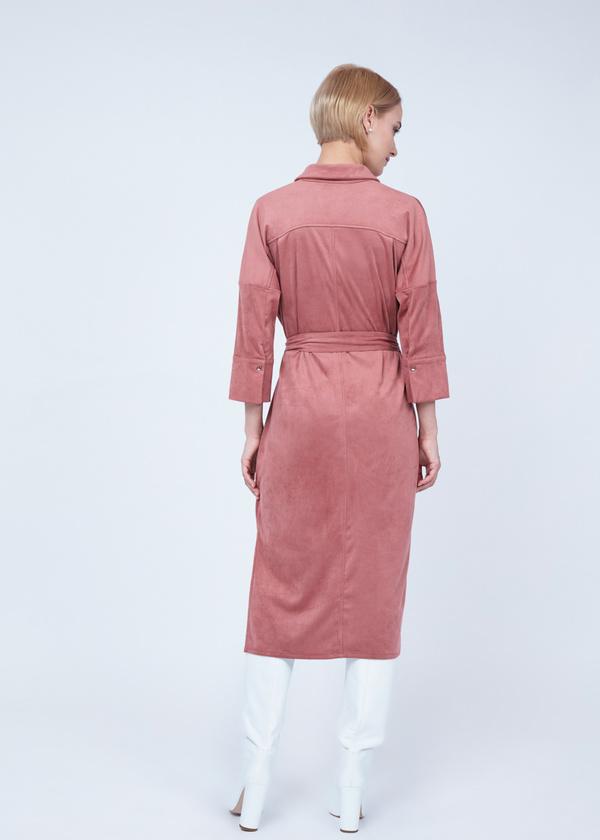 Платье-рубашка с боковыми разрезами - фото 7