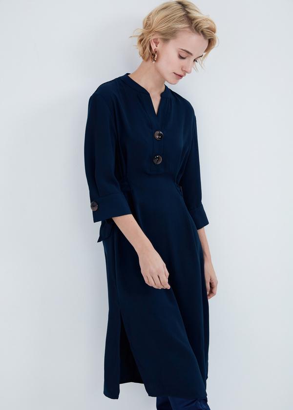 Платье-миди с крупными пуговицами - фото 2
