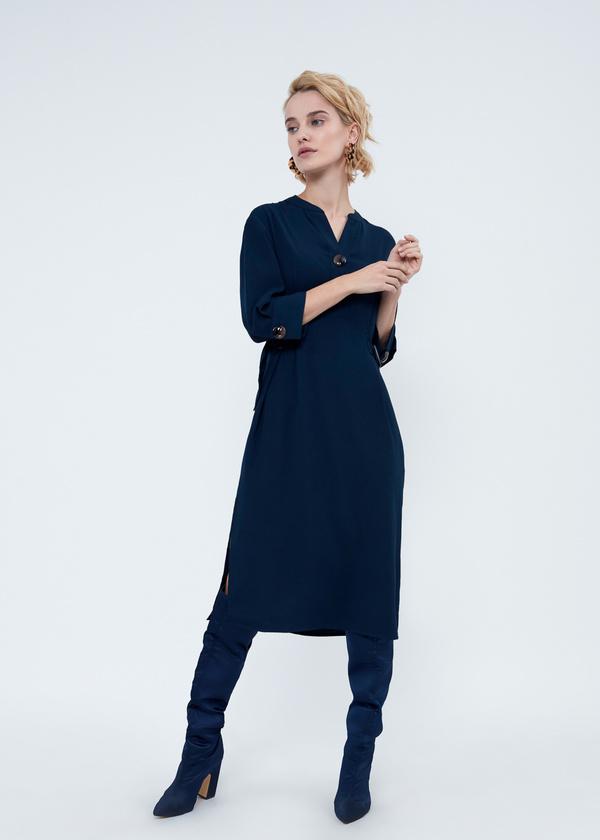 Платье-миди с крупными пуговицами - фото 5