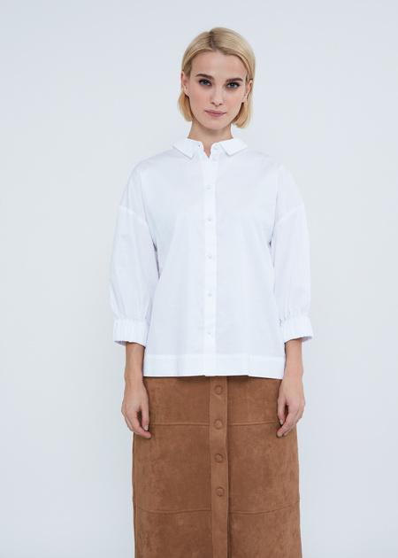 Рубашка в полоску с манжетами на резинке - фото 2