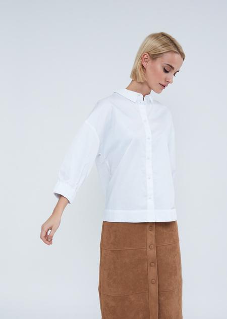 Рубашка в полоску с манжетами на резинке - фото 6