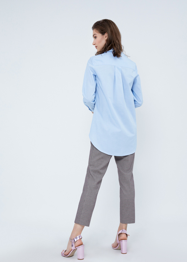 Рубашка из хлопка с декором из бусин - фото 5
