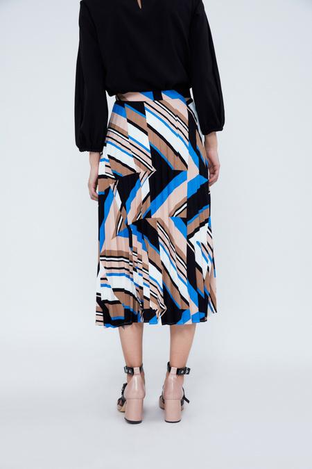 Плиссированная юбка-миди с геометрическим принтом - фото 6