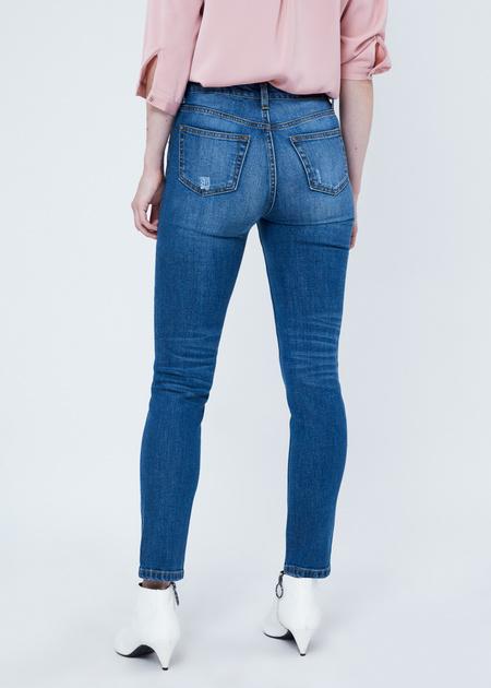 Укороченные джинсы со стразами и бусинами - фото 4