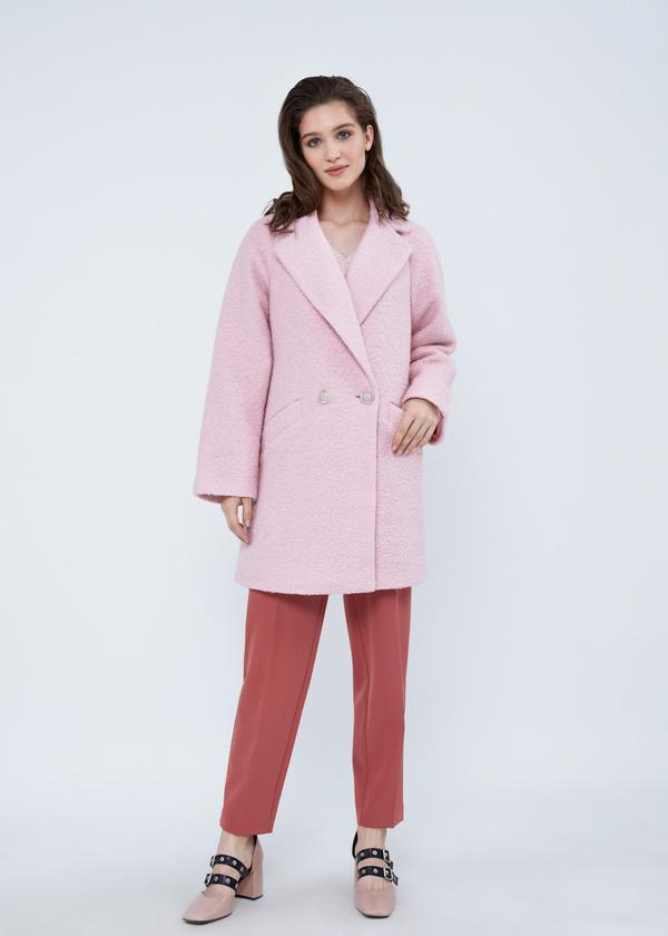 Двубортное пальто-оверсайз из букле - фото 3