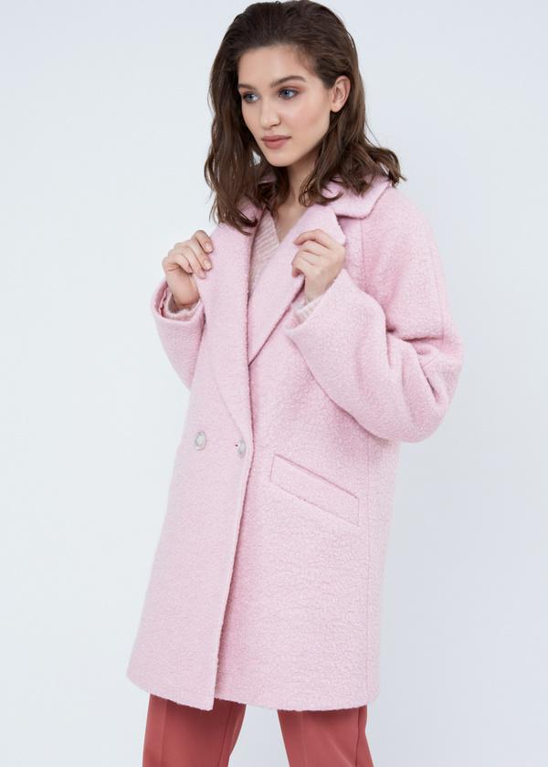 Двубортное пальто-оверсайз из букле - фото 4