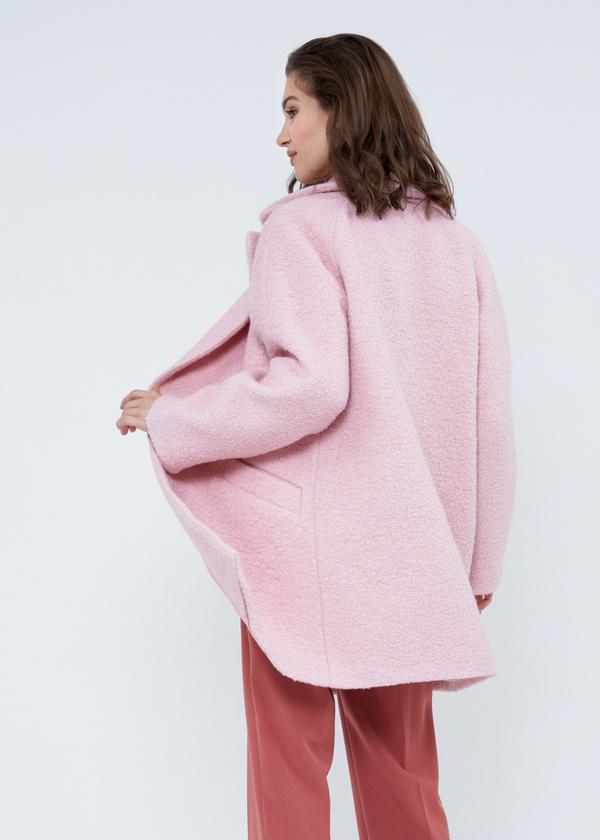 Двубортное пальто-оверсайз из букле - фото 5