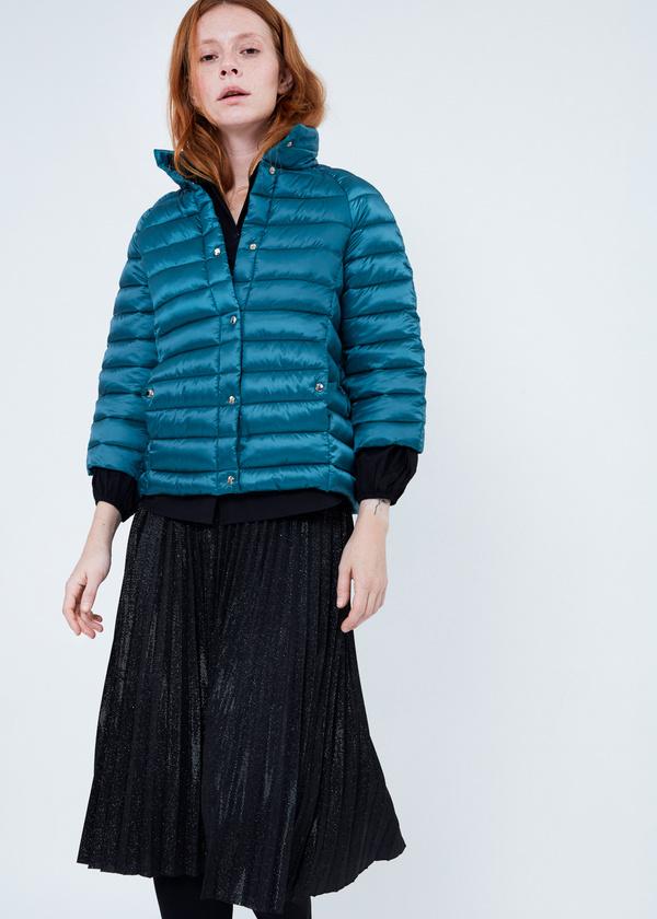 Стеганая куртка с укороченными рукавами - фото 2
