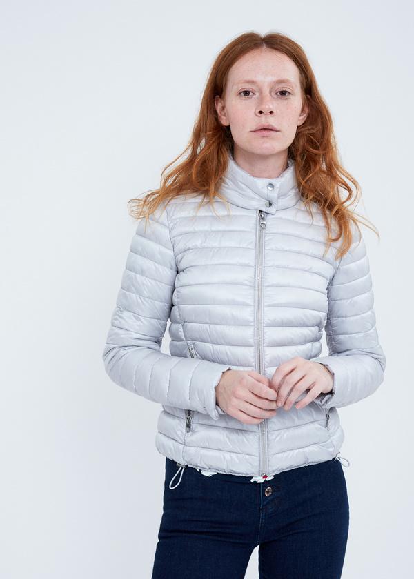 Стеганая куртка с застегивающимся воротником - фото 1