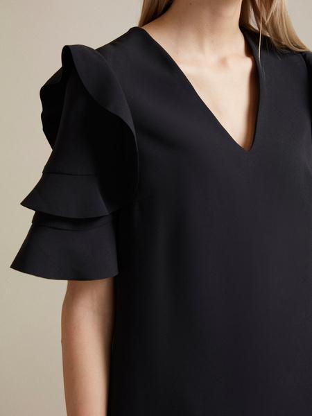 Платье-мини с оборками на рукавах - фото 3