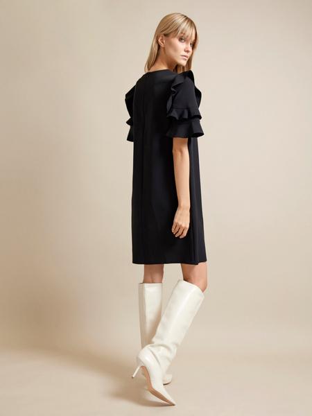 Платье-мини с оборками на рукавах - фото 5