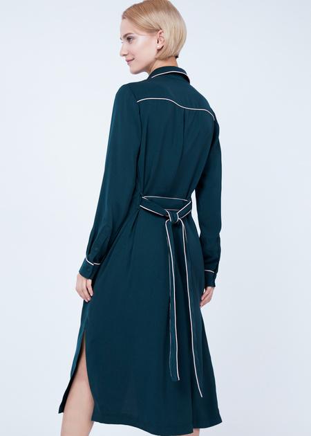Платье-миди с накладными карманами - фото 3