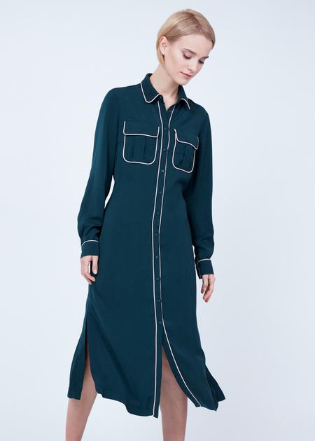 Платье-миди с накладными карманами - фото 4