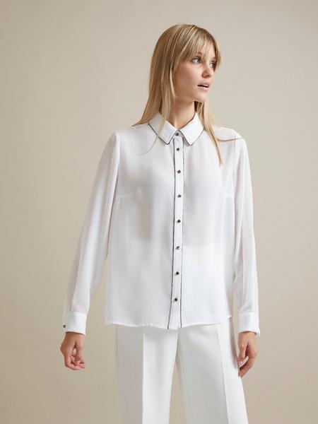 Полупрозрачная блузка с пуговицами - фото 1
