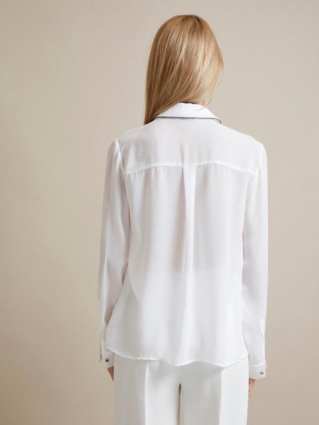 Полупрозрачная блузка с пуговицами - фото 4