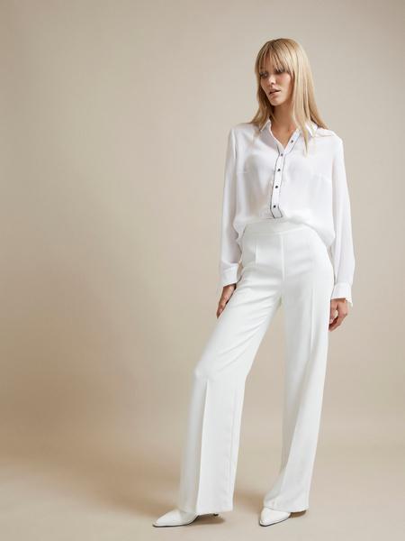Полупрозрачная блузка с пуговицами - фото 5