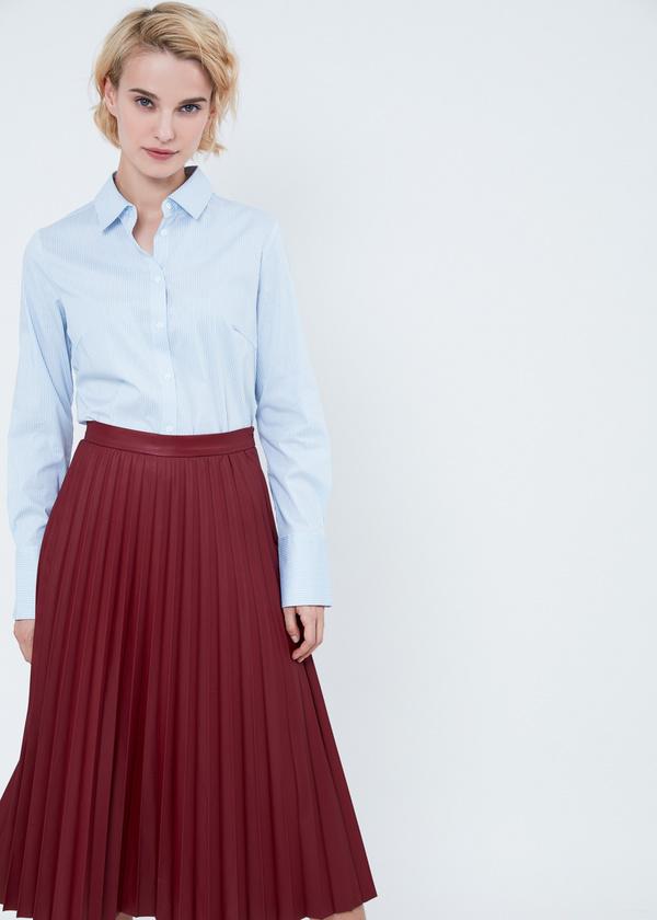 Приталенная блузка из хлопка - фото 4