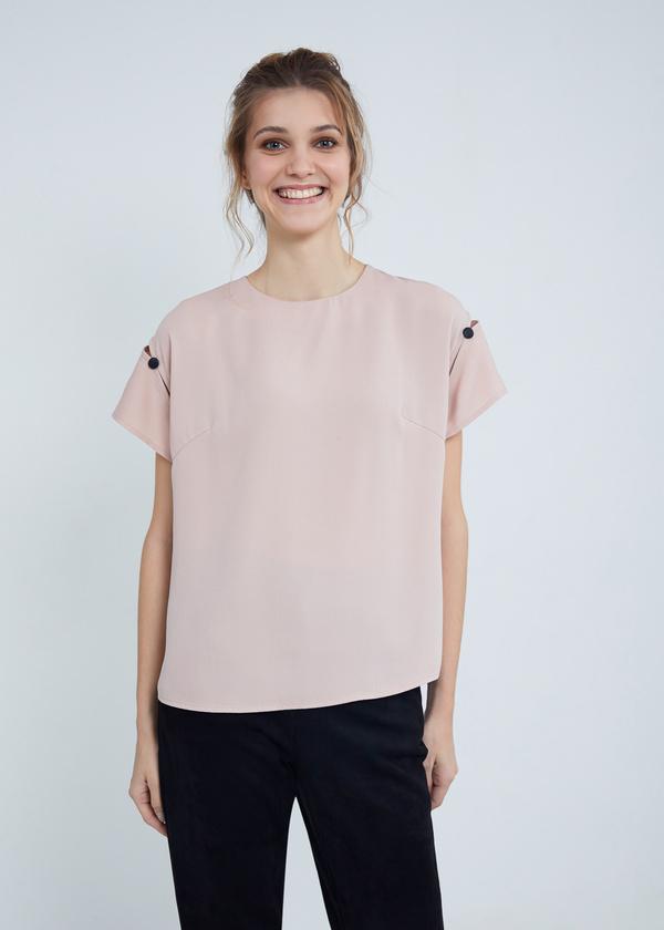 Блузка с завязками на спине - фото 3