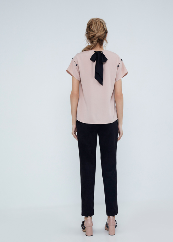 Блузка с завязками на спине - фото 6