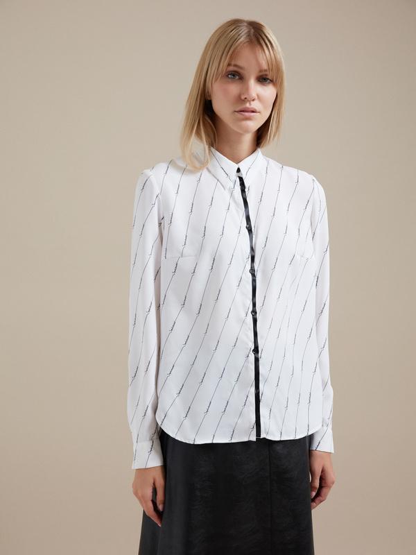 Блузка оверсайз с принтом - фото 1