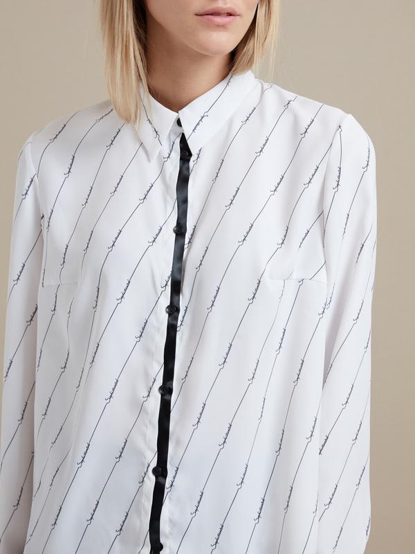 Блузка оверсайз с принтом - фото 2