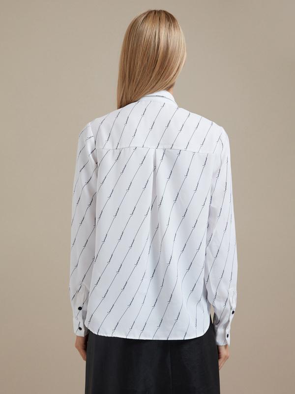 Блузка оверсайз с принтом - фото 3