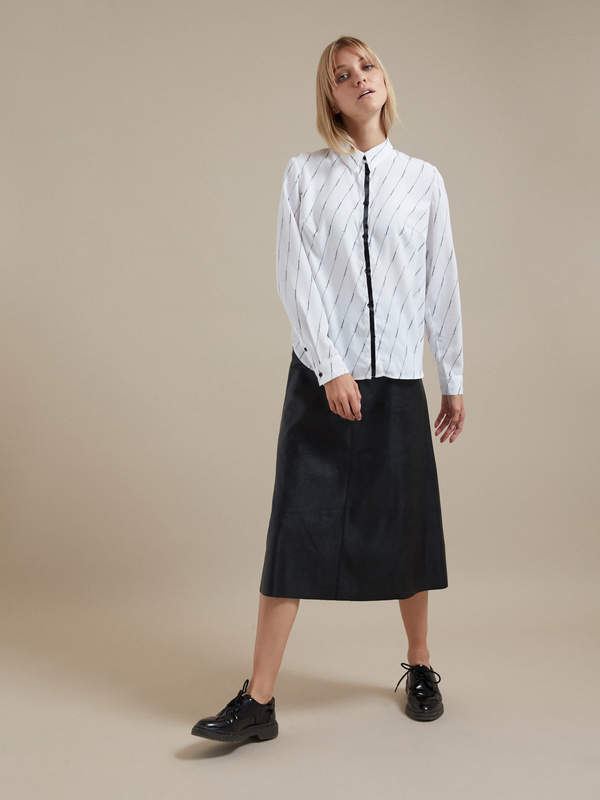 Блузка оверсайз с принтом - фото 5