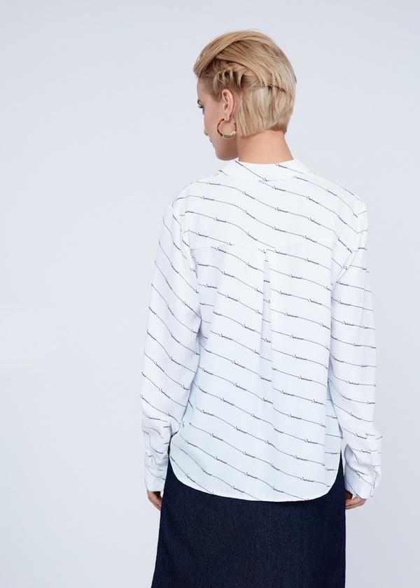 Блузка оверсайз с принтом - фото 6