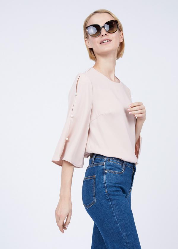 Блузка с рукавами клеш - фото 3