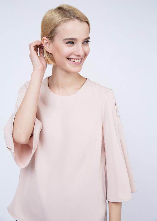 Блузка с рукавами клеш - фото 5