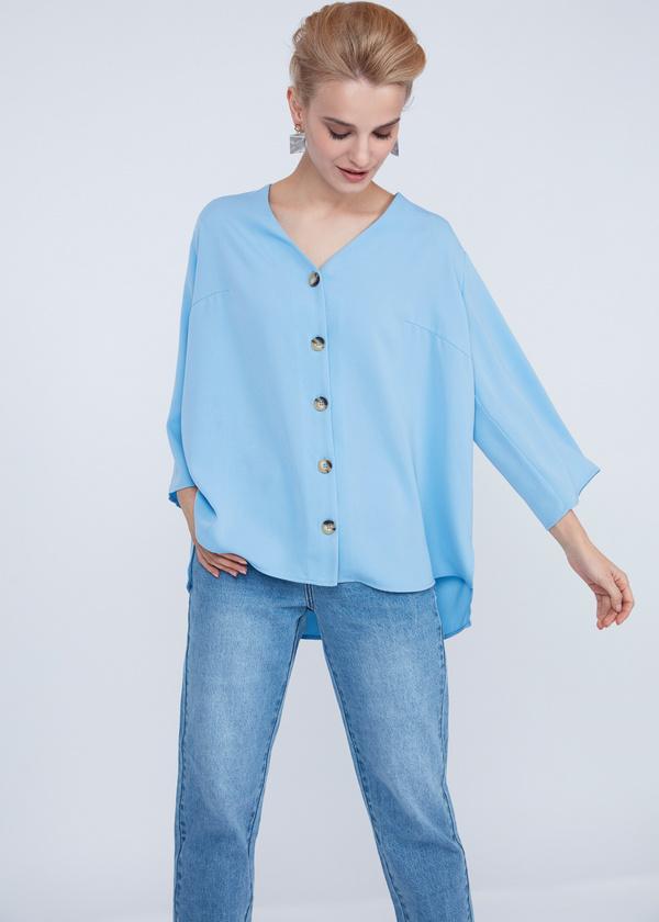 Блузка с расклешенными рукавами - фото 3