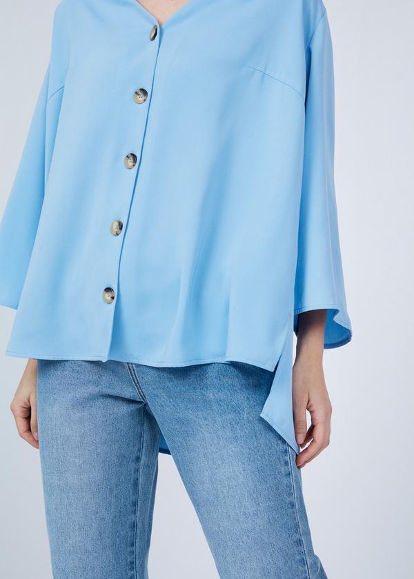 Блузка с расклешенными рукавами - фото 4