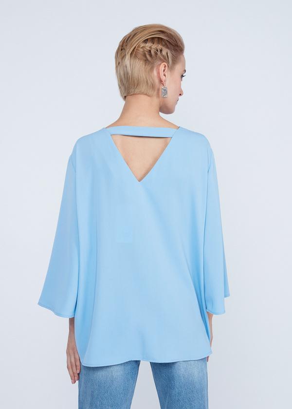 Блузка с расклешенными рукавами - фото 6