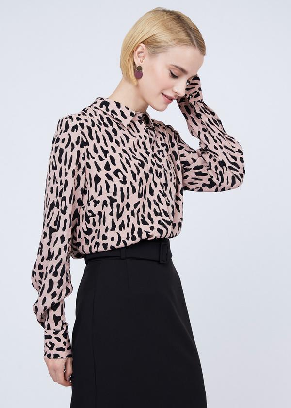 Блуза из вискозы с рукавами-фонариками - фото 2