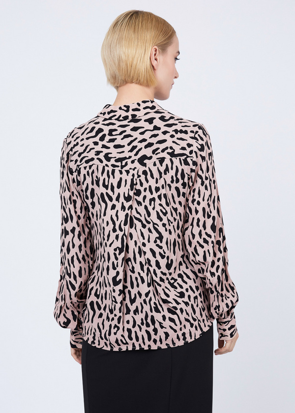 Блуза из вискозы с рукавами-фонариками - фото 5